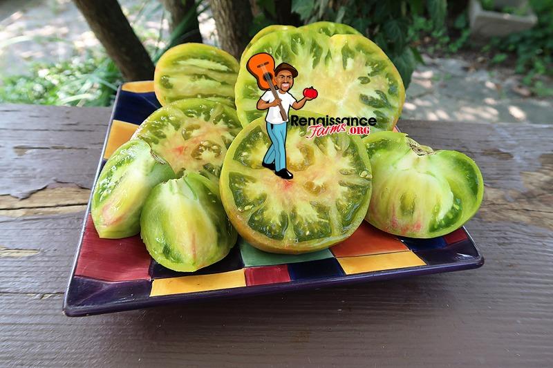 Ananas Zebra Tomato On Garnish Plate