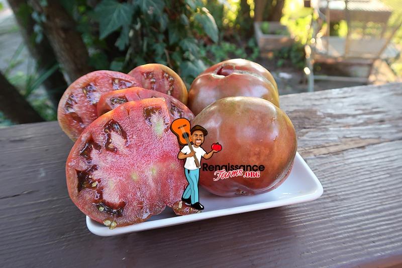 Cherokee Purple Potato Leaf Tomato On Plate
